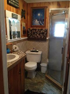 Bathroom all done in Petosky stone!!