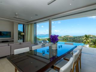 The Ridge 8: Stunning Seaview villa :4bed +1studio, Plai Laem