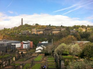 View of Calton Hill from living room