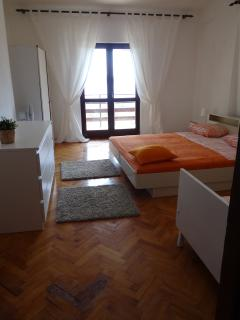 Room No2 one double bed +1bed and fantastic balcony with gorgeous view,table- chairs,locker.