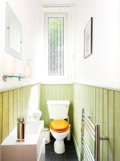 WC with heated towel rail