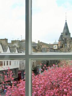 View of Royal Mile from living room
