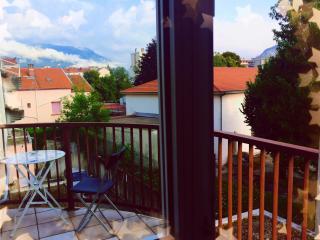 studio with private balcony