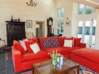 The old barn is now a spacious sitting room with wood burner, 46in TV with SKY HD.