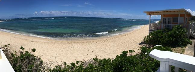 White sand beach for miles.