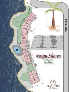 Poipu Shores Site Map