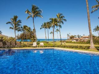 Manualoha 104, Beautifully decorated ocean view condo steps from Brennecke`s Beach. Sleeps 5. Free car* with stay of 7 nights or more., Koloa