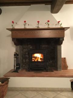 Traditional Italian fireplace