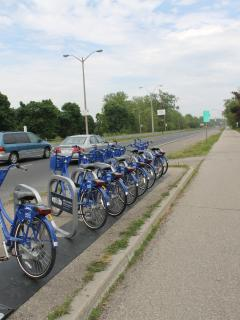 Rent a bike from SoBi bikes: the hub is only two blocks away.