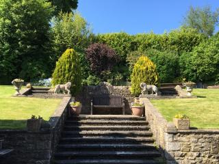 The steps leading up to the gardens