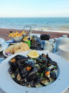 Seafood by the sea! Oddicombe Beach, a few minutes away.