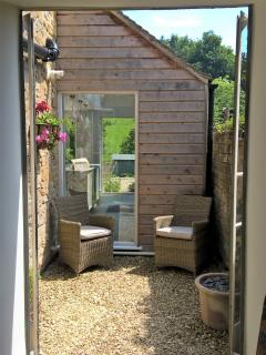 French doors open from the Living room to the private courtyard, creating a wonderful alfresco feel.