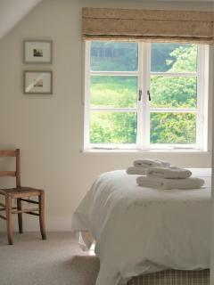 Stunning countryside views from the Master bedroom.