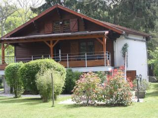 View of the chalet from the garden.