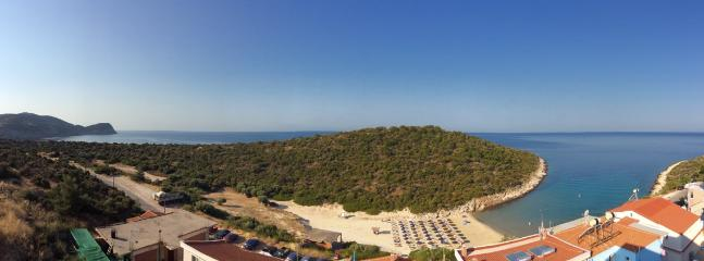 The panoramic view from the balcony