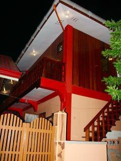 Ferranco Tourist Inn at night.