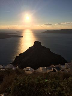 10 meters away you can view the amazing views of Caldera and sunset