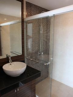 modern bathroom with big shower