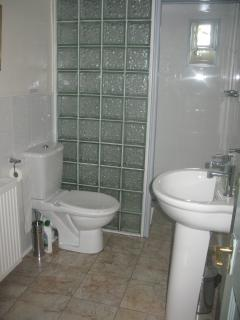 shower room with walk in shower