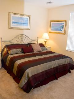 Home offers 1 king bedroom with flat screen HDTV, 1 Queen bedroom with a flat screen HDTV and the 3r