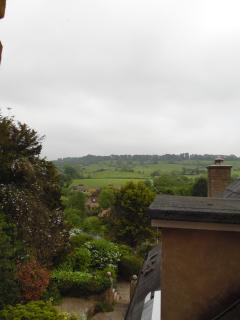 View from kitchen window across Cotswold hills