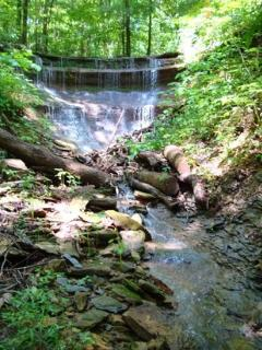 Water fall on the property