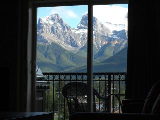 View of the 3 Sister mountains from the living room.