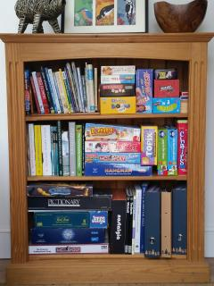 A selection of games, books and maps