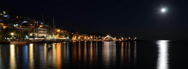 Plomari at night