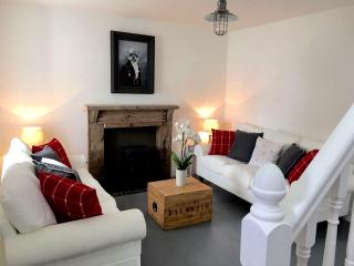 The lounge is perfect for cosy nights in with log burner, flat screen TV and wifi