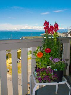 Get some fresh air out on the balcony.