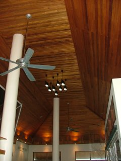 Very high Vaulted ceiling in the living room area which keeps the villa cool on the hottest of days