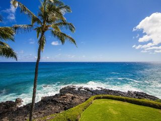 Poipu Shores 304A with A/C  oceanfront 2 bed/2 bath with FREE mid-size car