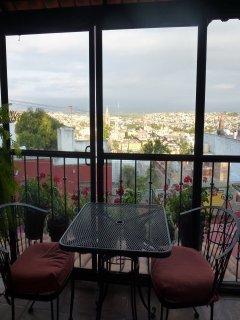 Balcony outside master bedroom