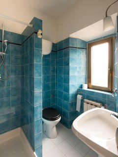 The villa has eight bathrooms, with a range of showers, baths, bidets etc.