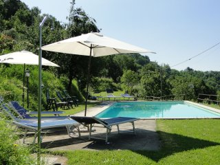 Vallecchia,  large sunny private pool, WIFI, mountain views, walk to restaurant, Fosciandora