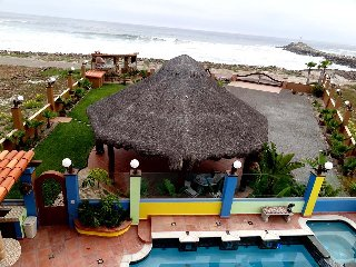 Beachfront 5 bedrooms custom home with heated pool, La Misión