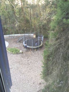 View of the trampoleen from room n 2