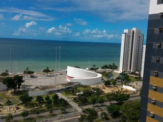 Great Boa Viagem Beach View From 1BD Flat in Recife