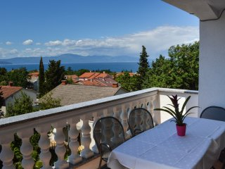 Family apartment with a seaview in Malinska!