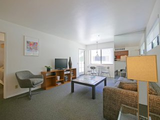Living Room with Flat Screen TV; Knoll swivel chair