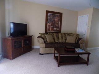 Furnished 2-bedroom across from beach