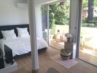 Le Clos : studio climatisé + terrasse + parking, Aix-en-Provence