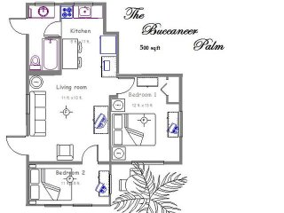 Palm Place Buccaneer  3 - Buccaneer Palm 500 sqft of tastefully furnished beach getaway., Clearwater