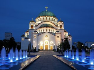 Cathedral St. Sava Temple Belgrade center apt