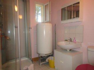 La salle d'eau cabine douche wc lavabo