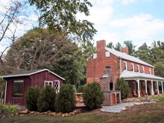 Our 1850s solid brick farmhouse.
