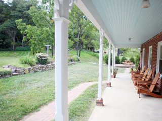 A true southern, wrap-around porch.