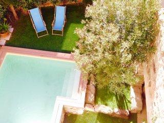 La Corbière location rez de chaussée maison avec pisicine en Languedoc