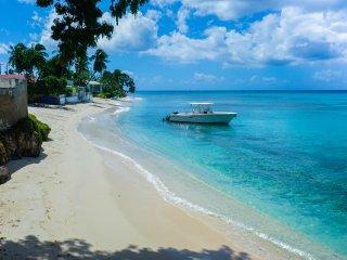 Beautiful beachfront apt  in tranquil little bay